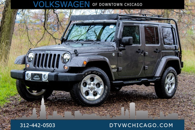 Pre-Owned 2014 Jeep Wrangler Unlimited Sahara FREEDOM TOP BODY COLOR/UCONNECT/SAFARI PACKAGE LOW
