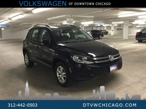 Certified Pre-Owned 2017 Volkswagen Tiguan S 4Motion KESSY/BLUETOOTH/LEATHER/APP CONNECT